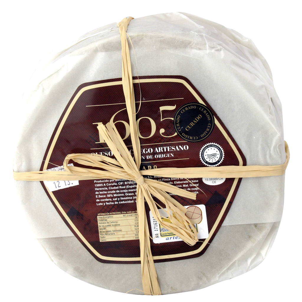 Manchego Cheese 100% sheep milk 1605 D.O.